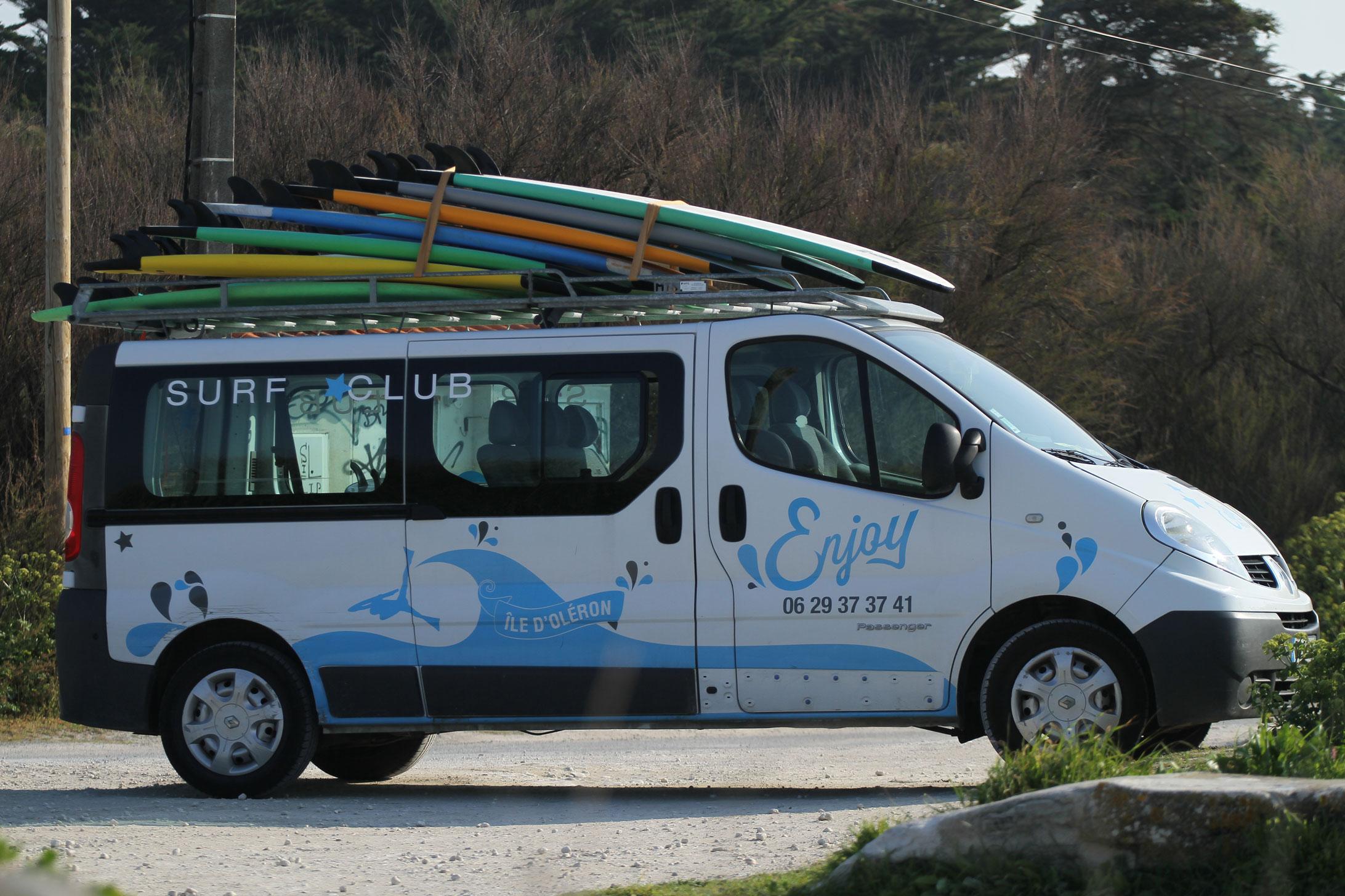 enjoy ecole surf oléron - camion